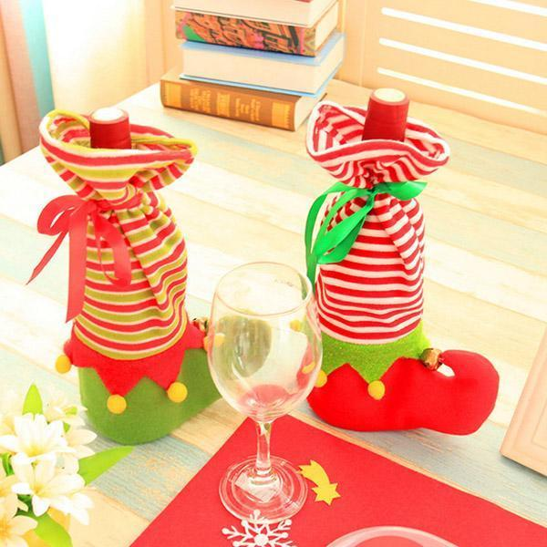 Christmas Red Wine Cover Bags (3 Pcs)