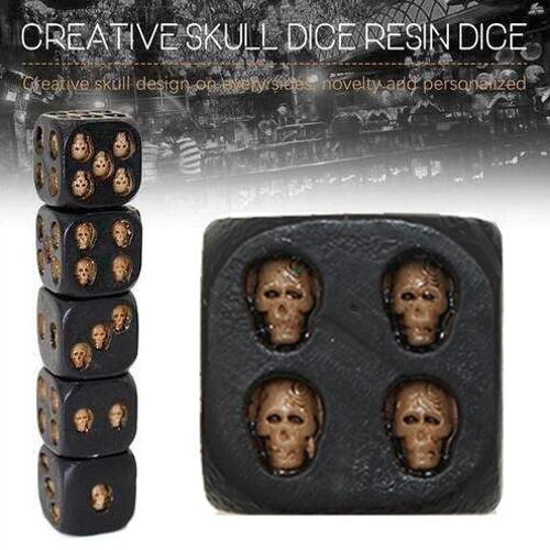 Cool Black Skull Dice Set (Dice & Cup)