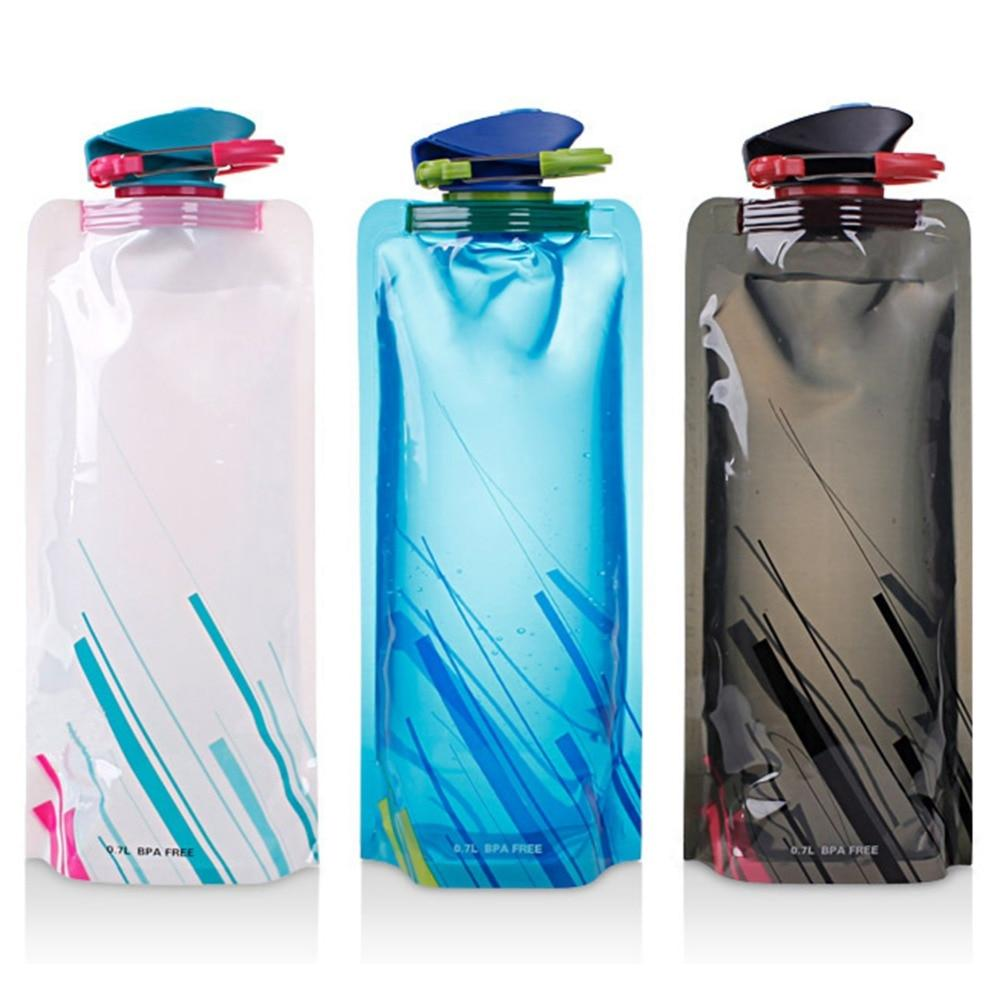 Reusable 700mL Sports Travel Portable Collapsible Folding Drink Water Bottle Kettle Outdoor Sports Water Bottle BPA free