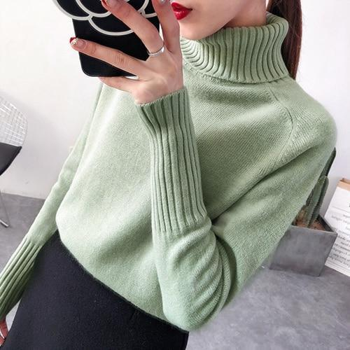 Women's Cashmere Knitted Turtleneck Sweater