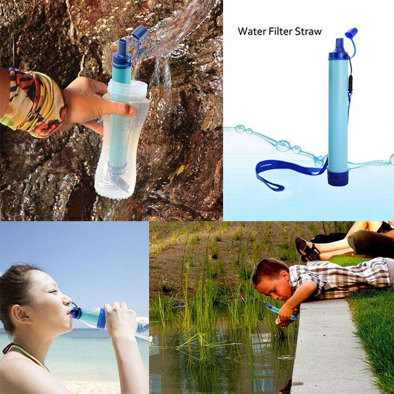 Personal Water Filter for Hiking, Camping, Travel, and Emergency