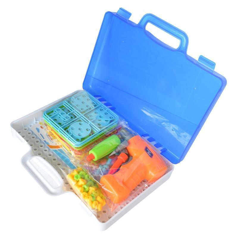 Smart Building Block Games Set With Toy Drill & Toolset