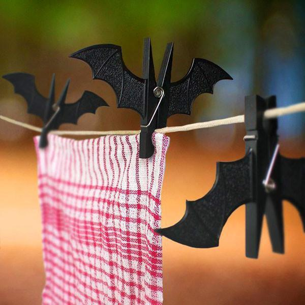 Spooky Bat Clothes Pegs (Various Colors)-Tool-Black-GeekyGet