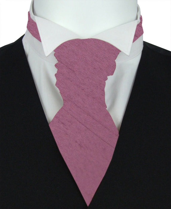 Amethyst Shantung Pre-Tied Wedding Cravat - Wedding
