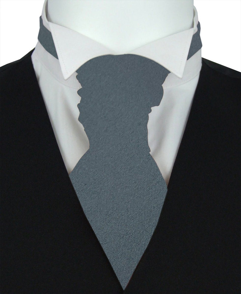 Anthracite Pre-Tied Wedding Cravat - Wedding