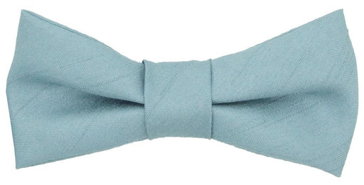 Antique Blue Shantung Boys Bow Tie - Childrenswear