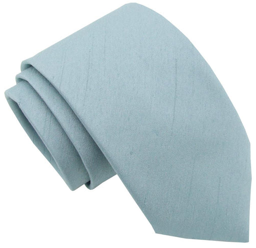 Antique Blue Shantung Wedding Tie - Wedding