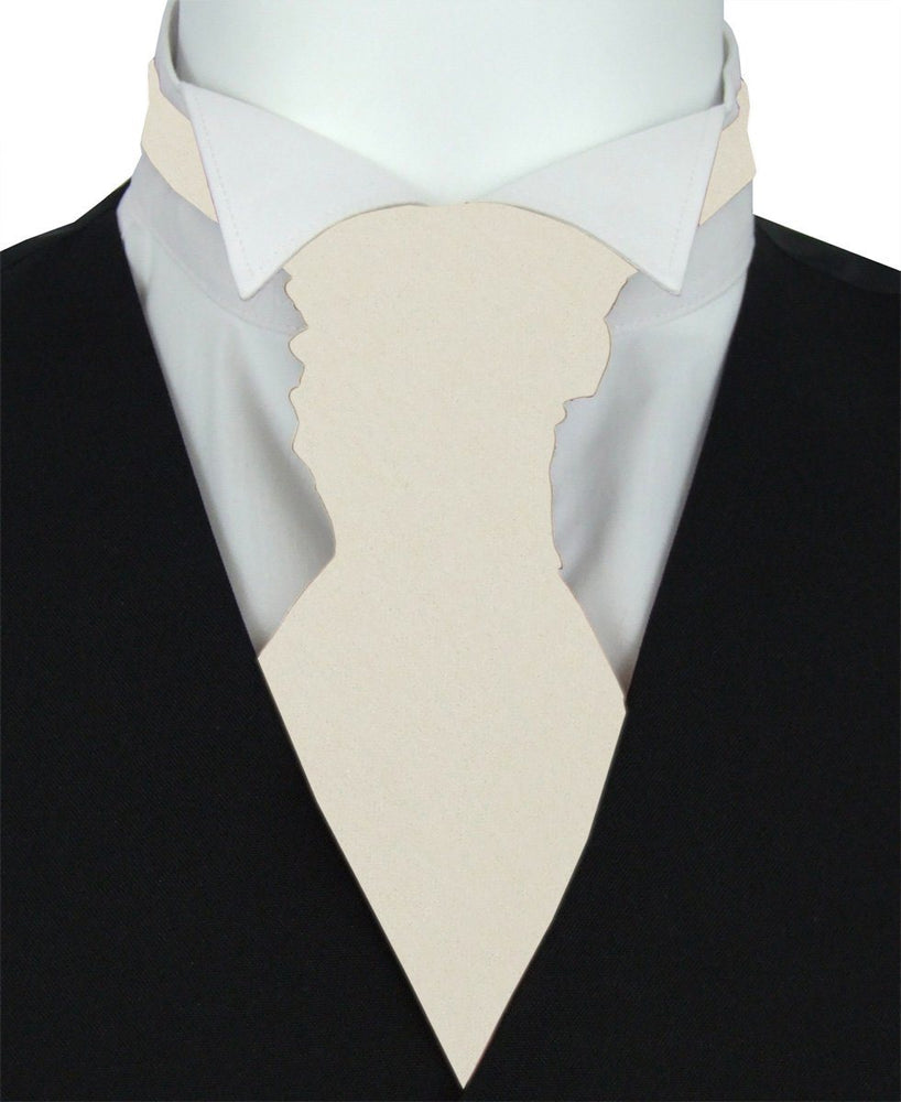 Antique Champagne Pre-Tied Wedding Cravat - Wedding