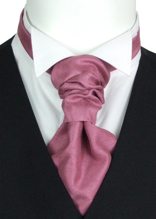 Antique Rose Shantung Pre-Tied Wedding Cravat - Wedding