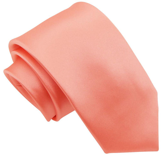 Apricot Peach Skinny Wedding Tie - Wedding