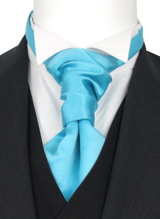 Aqua Boys Wedding Cravat - Childrenswear