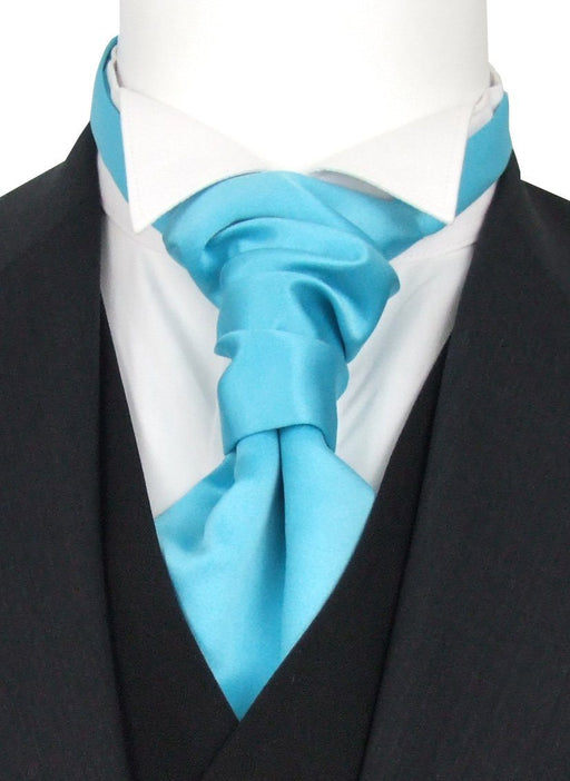 Aqua Pre-Tied Wedding Cravat - Wedding
