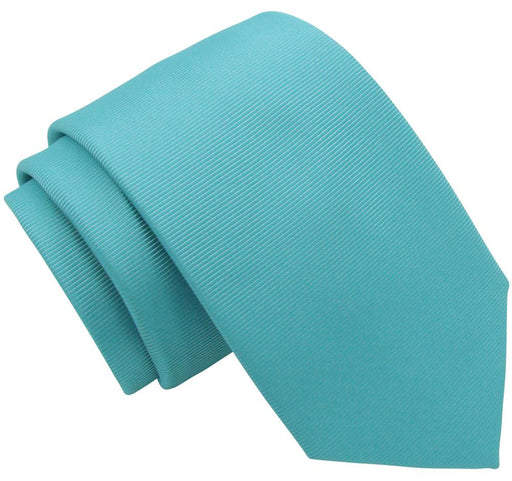 Aquamarine Twill Wedding Tie - Wedding