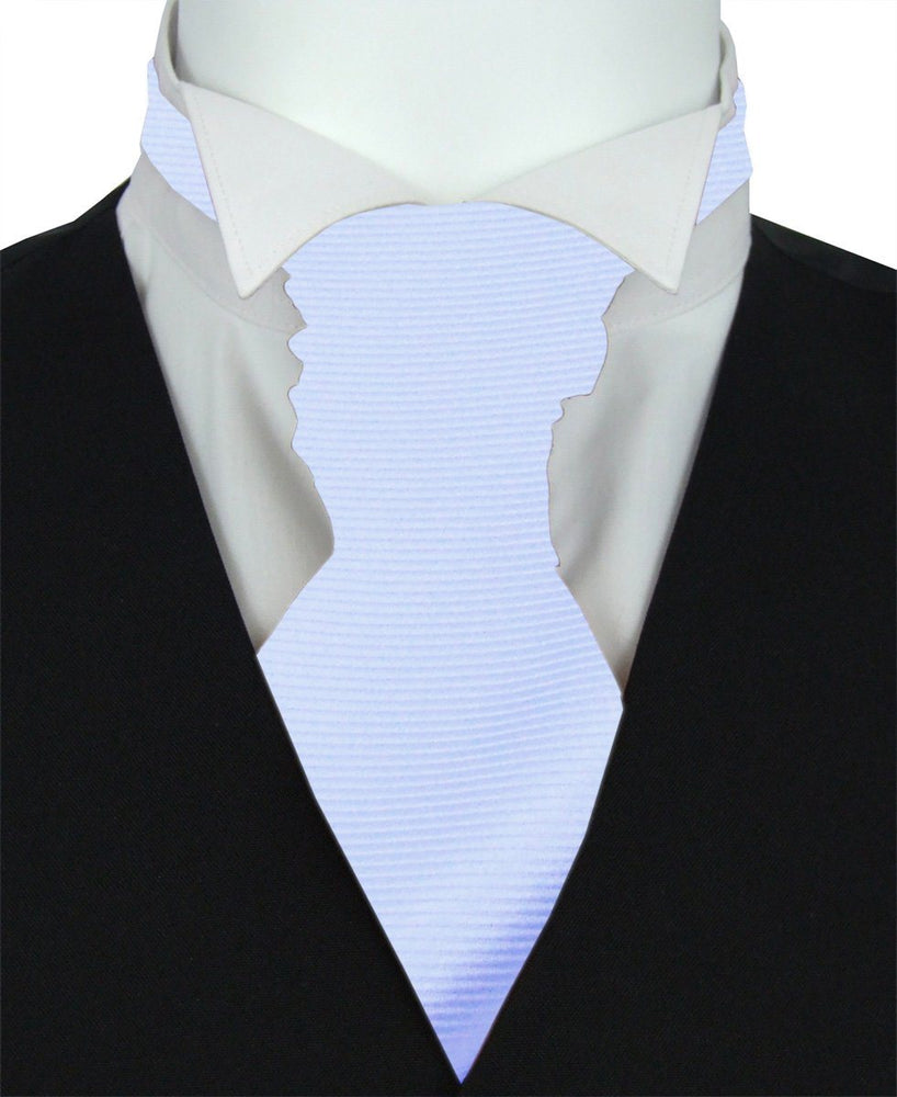 Arctic Twill Boys Pre-Tied Wedding Cravat - Wedding