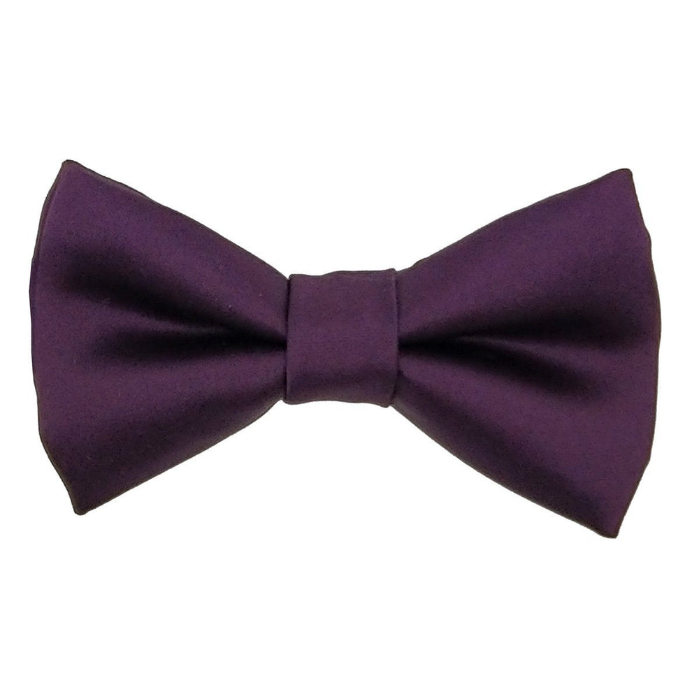 Aubergine Boys Bow Tie - Childrenswear