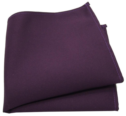 Aubergine Pocket Square - Wedding