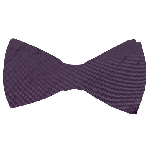 Aubergine Shantung Bow Tie - Wedding