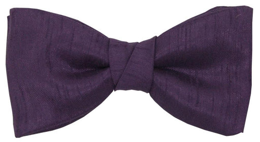 Aubergine Shantung Boys Bow Tie - Childrenswear