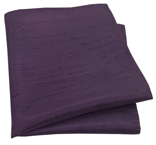 Aubergine Shantung Pocket Square - Wedding