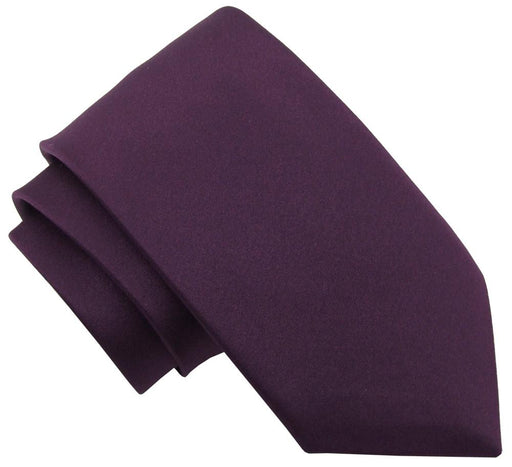Aubergine Wedding Tie - Wedding