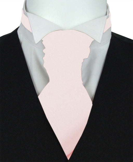 Ballet Pink Pre-Tied Wedding Cravat - Wedding