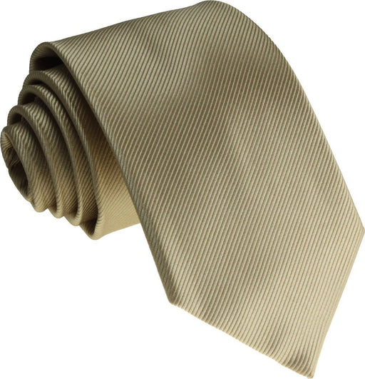 Beige Silk Wedding Tie - Wedding