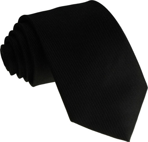 Black Silk Wedding Tie - Wedding