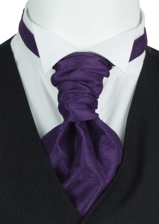 Blackberry Shantung Pre-Tied Wedding Cravat - Wedding