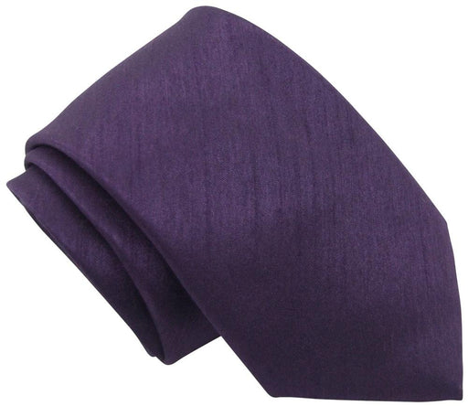 Blackberry Shantung Skinny Wedding Tie - Wedding