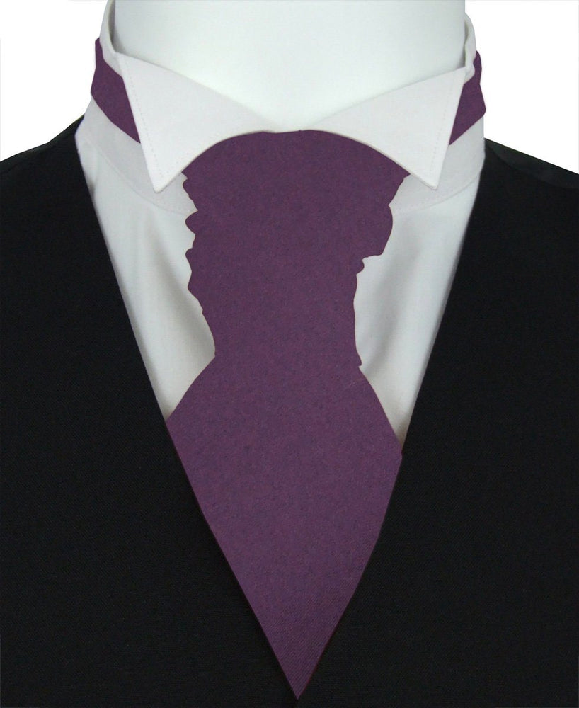 Blackberry Wine Pre-Tied Wedding Cravat - Wedding