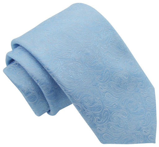 Blue Paisley Wedding Tie - Wedding