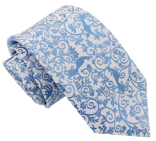 Blue Peacock Wedding Tie - Wedding