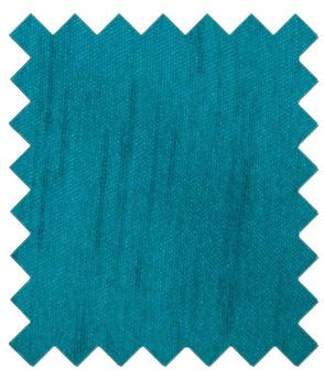 Blue Teal Shantung Wedding Swatch - Wedding