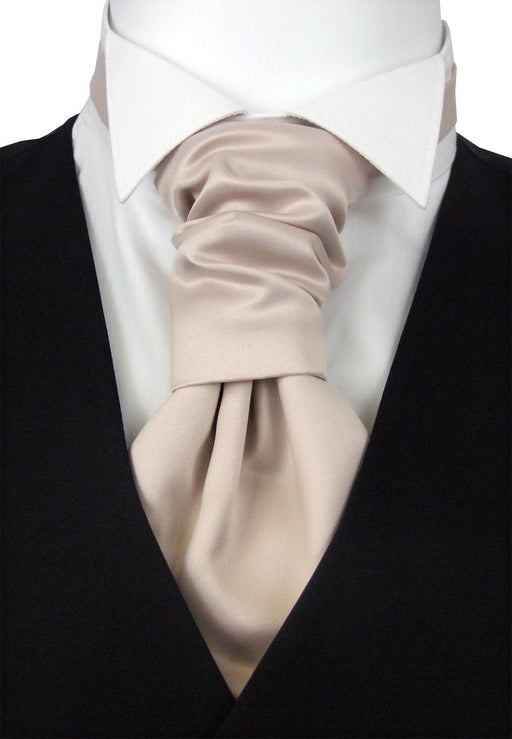 Blush Pink Boys Pre-Tied Wedding Cravat - Childrenswear