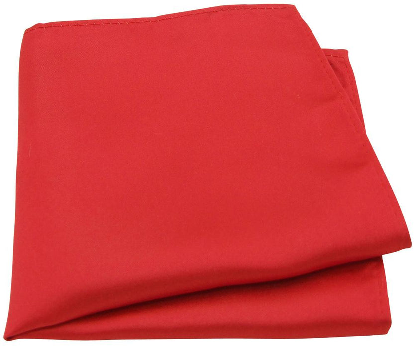 Bright Red Pocket Square - Wedding