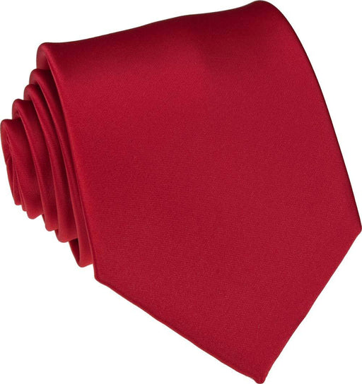 Bright Red Skinny Wedding Tie - Wedding
