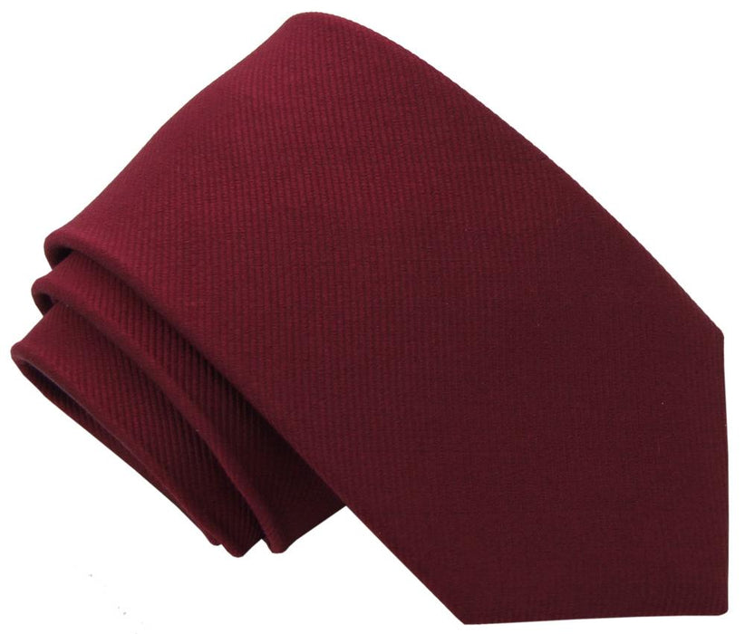 Burgundy Silk Wedding Tie - Wedding