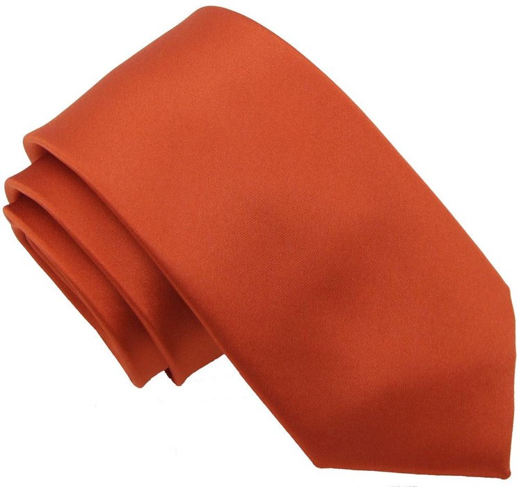Burnt Orange Skinny Wedding Tie - Wedding