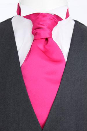 Cerise Pink Pre-tied Wedding Cravat - Wedding
