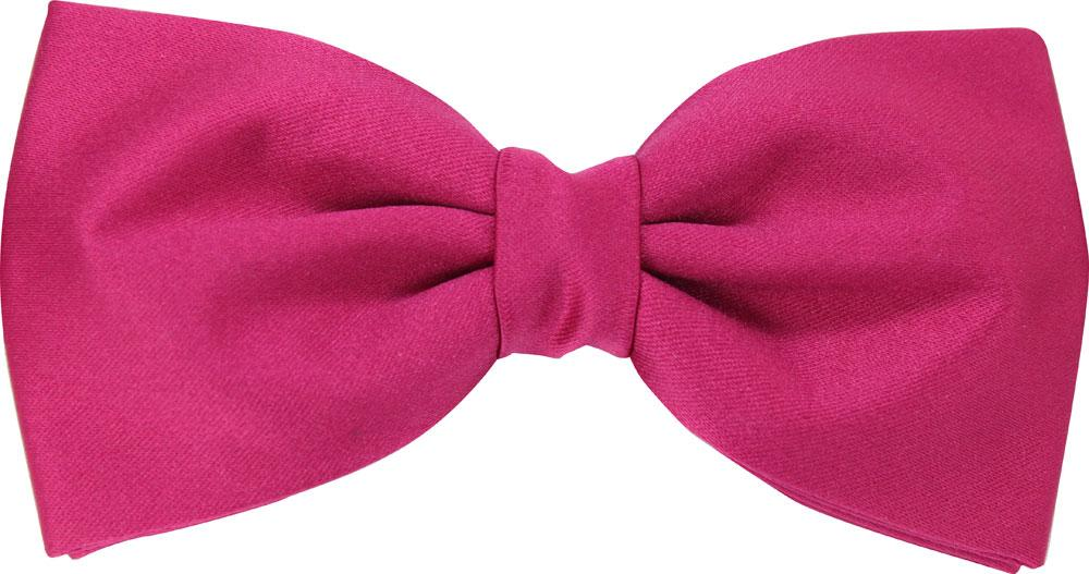 Cerise Rose Bow Tie - Wedding