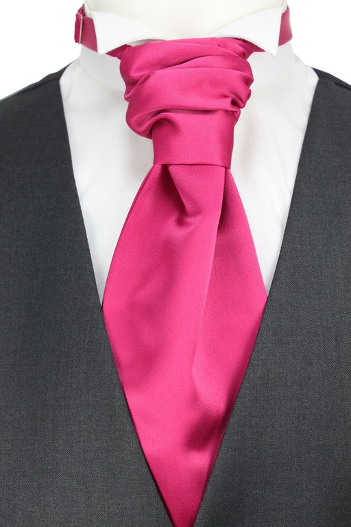 Cerise Rose Boys Pre-Tied Wedding Cravat - Childrenswear
