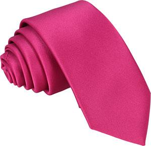 Cerise Rose Skinny Wedding Tie - Wedding