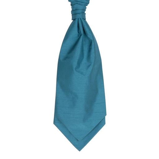 Cerulean Shantung Boys Pre-Tied Wedding Cravat - Wedding