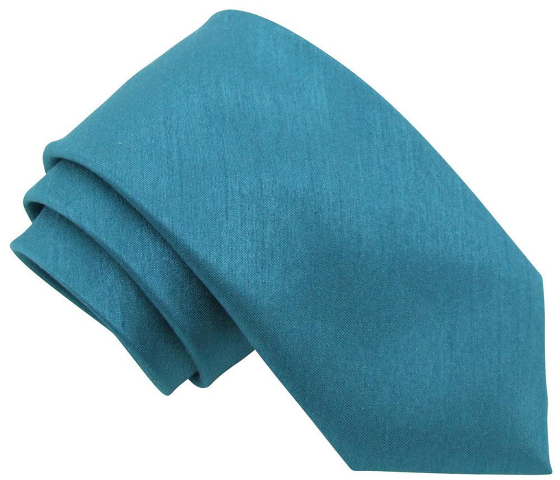 Cerulean Shantung Boys Tie - Childrenswear