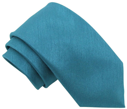 Cerulean Shantung Skinny Wedding Tie - Wedding