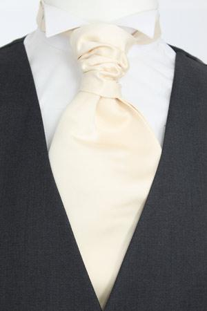 Champagne Ivory Pre-Tied Wedding Cravat - Wedding