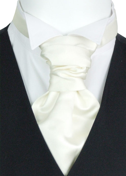 Chantilly Cream Pre-Tied Boys Wedding Cravat - Wedding