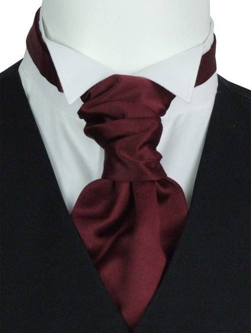 Claret Pre-Tied Boys Wedding Cravat - Childrenswear