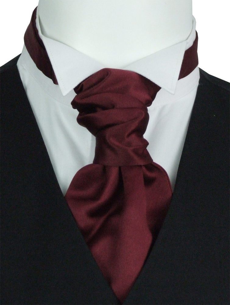 Claret Pre-Tied Wedding Cravat - Wedding