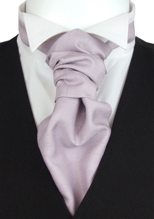 CLEARANCE - Cool Lilac Shantung Boys Cravat - Clearance